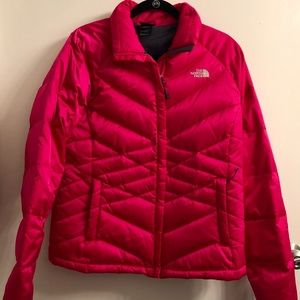 Women's North Face Pink Puffer Coat
